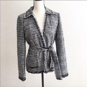 NWT Ann Taylor Fine Italian fabric tweed blazer